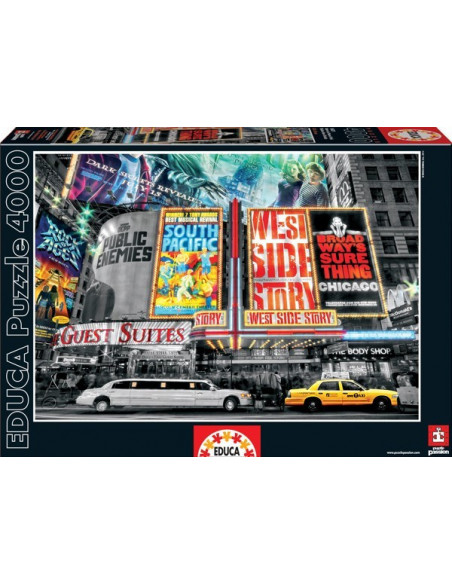 New York-i moziplakátok - 4000 db-os puzzle - Educa