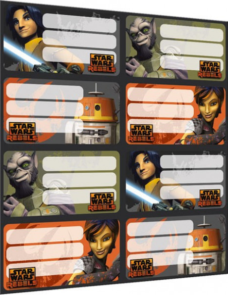Star Wars Rebels íves füzetcímke - 8 db