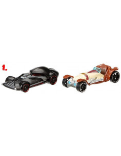 Star Wars kisautók - Hot Wheels - 1. Darth Vader és Obi-Wan Kenobi