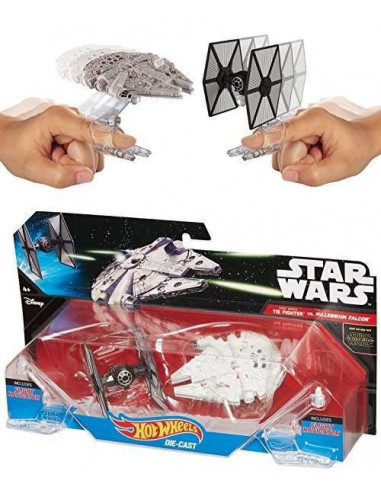 First Order TIE vadász a Millenium Falcon ellen - Star Wars - Hot Wheels