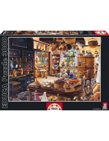 A pékség - The bakery - Educa Puzzle 3000 db