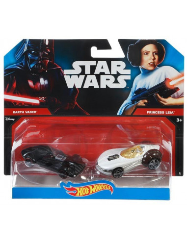 Darth Vader Leia ellen - Hot Wheels kisautók - Mattel