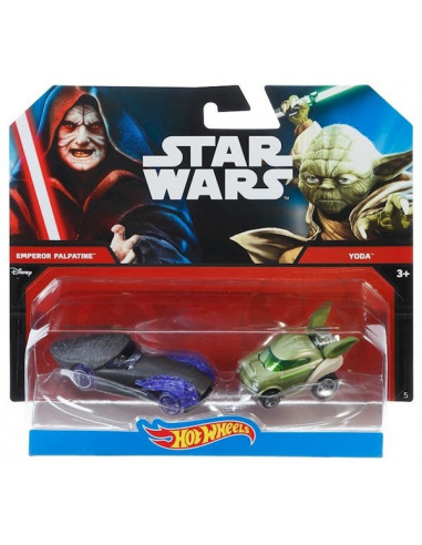 Palpatine vs. Yoda - Hot Wheels kisautók - Mattel