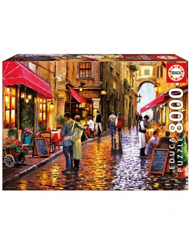 Cafe Street - 8000 db-os puzzle - Educa 16788