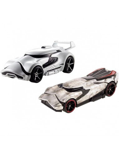 Star Wars First Order Stormtrooper és Captain Phasma kisautó - Hot Wheels