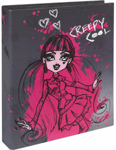 Monster High gyűrűs mappa - A4 - keményfedeles