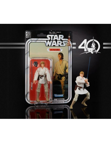 "Star Wars Black Series 6"" Luke Skywalker figura - 40. jubileumi kiadás"