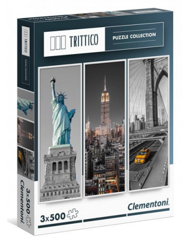 New York - 3 x 500 db-os puzzle - Clementoni 39305