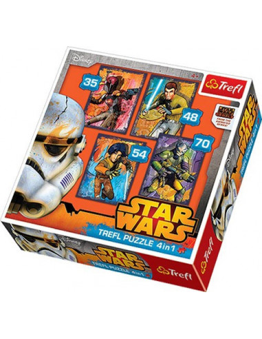 Star Wars Rebels - 4 az 1-ben puzzle - Trefl 34231