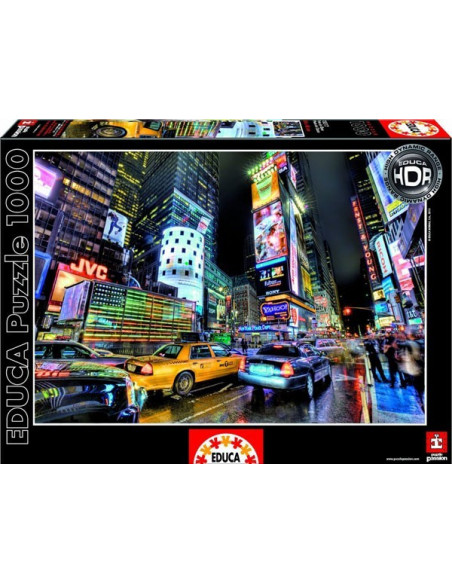 Time Square, New York - 1000 db-os puzzle - Educa -