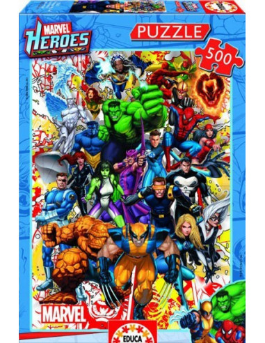 Marvel Heroes- 500 db-os puzzle- Educa