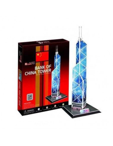 3D közepes puzzle - Bank of China torony -