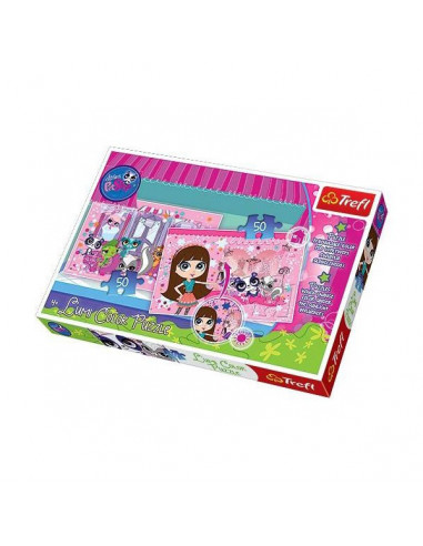 Littlest Pet Shop Lumi Color Puzzle - 2 x 50 db-os puzzle - Trefl 16502